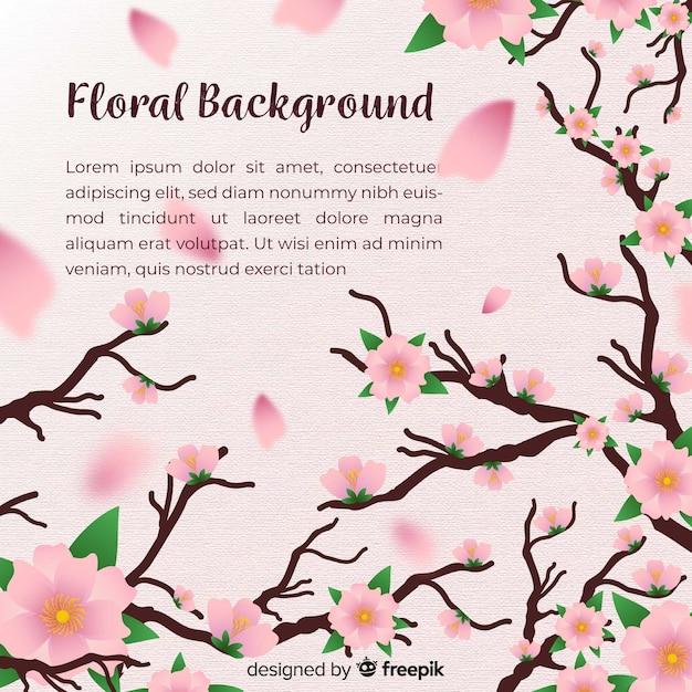 Fundo floral moderno com design realista Vetor grátis