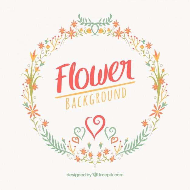 Fundo Floral Redondo No Design Plano Baixar Vetores Gr 225 Tis