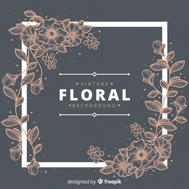 Fundo floral vintage Vetor grátis