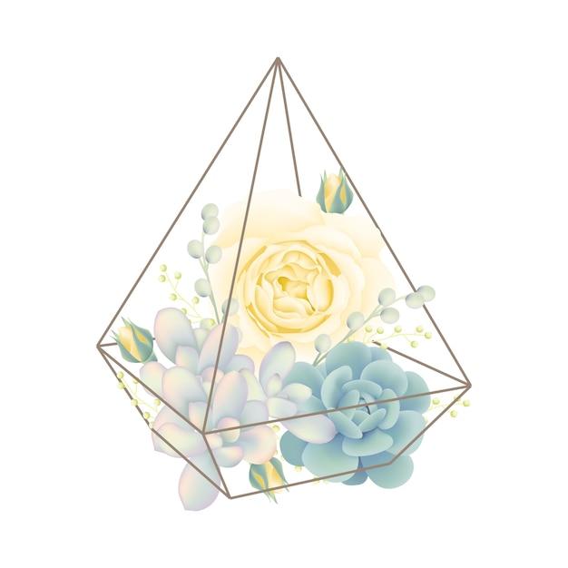 Fundo floral Vetor Premium