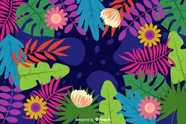 Fundo floral Vetor grátis