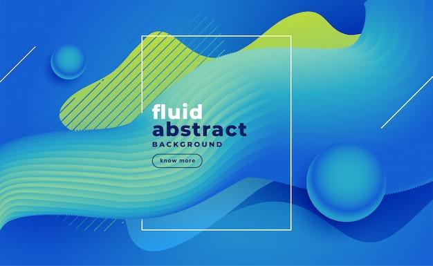 Fundo fluido azul abstrato Vetor grátis