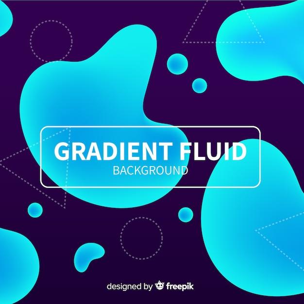 Fundo fluido gradiente Vetor grátis