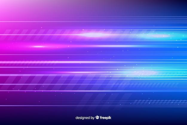 Fundo futurista brilhante movimento de luz Vetor grátis