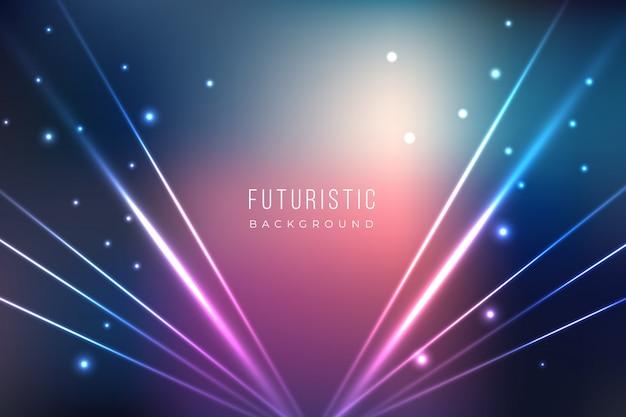Fundo futurista com efeitos de luz Vetor grátis