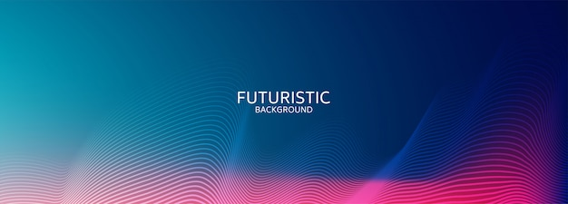 Fundo futurista de forma geométrica abstrata azul Vetor Premium