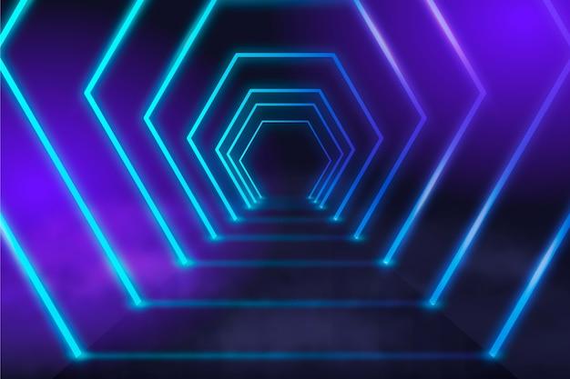 Fundo futurista de luzes de néon Vetor grátis
