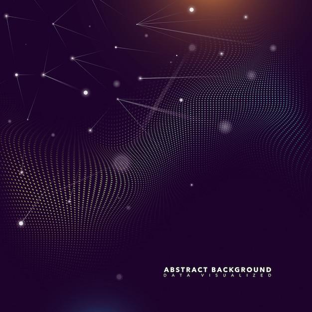 Fundo futurista de partículas abstratas Vetor grátis