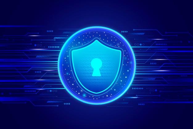 Fundo futurista de segurança cibernética Vetor grátis