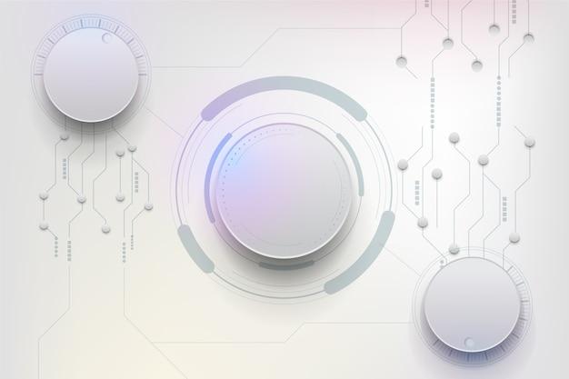Fundo futurista de tecnologia Vetor Premium