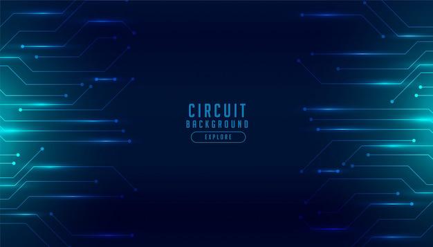 Fundo futurista digital de diagrama de circuito de tecnologia Vetor grátis