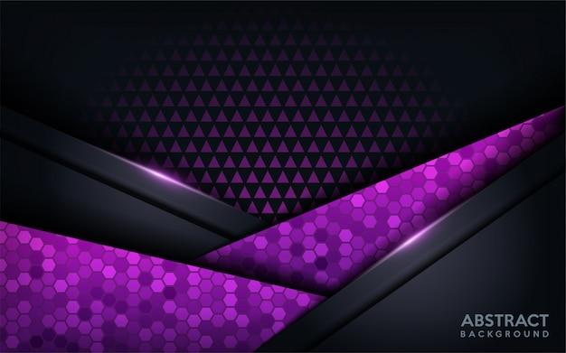 Fundo futurista moderno abstrato roxo. fundo escuro moderno Vetor Premium