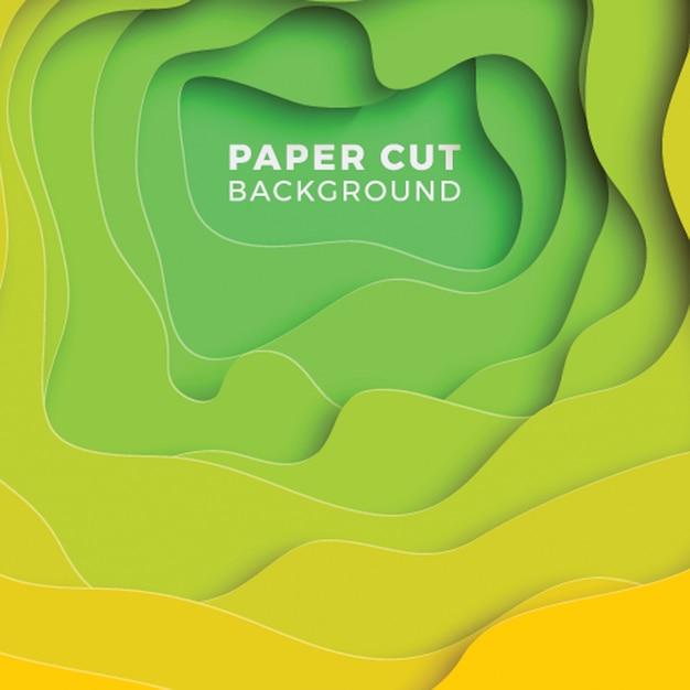 Fundo geométrico 3d com camadas de corte de papel realista. Vetor Premium
