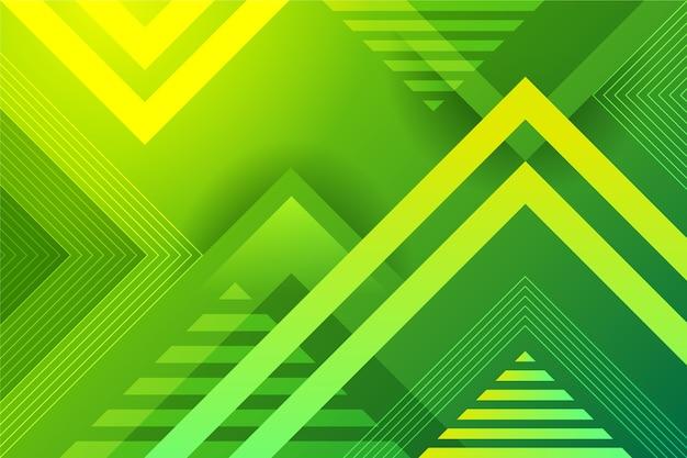 Fundo geométrico abstrato verde Vetor grátis