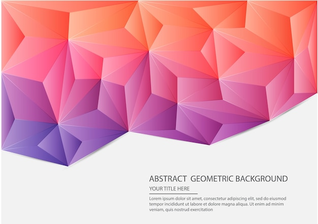 Fundo geométrico abstrato Vetor Premium