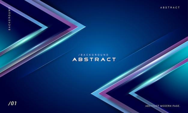 Fundo geométrico azul luz digital Vetor Premium