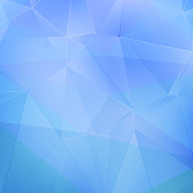 Fundo geométrico azul Vetor Premium