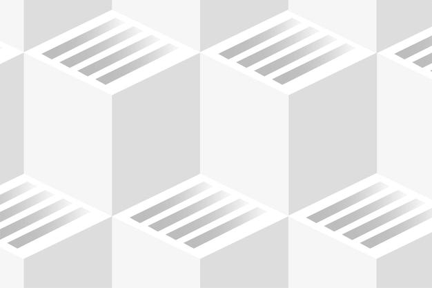 Fundo geométrico branco Vetor grátis