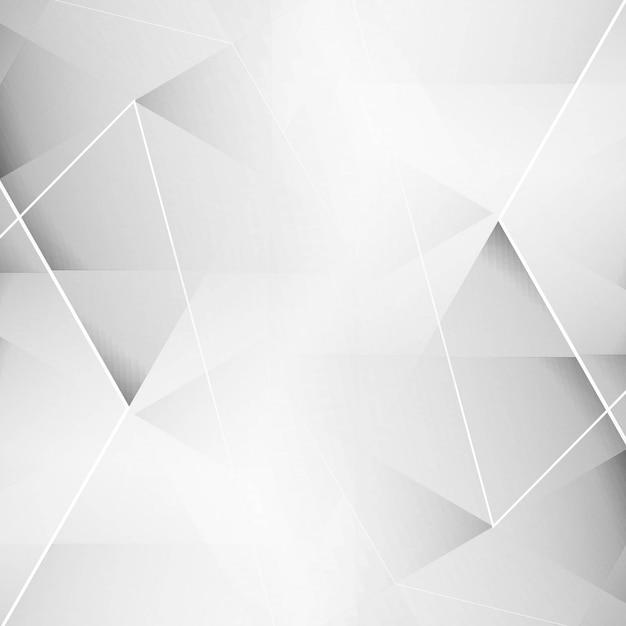 Fundo geométrico cinza elegante Vetor grátis