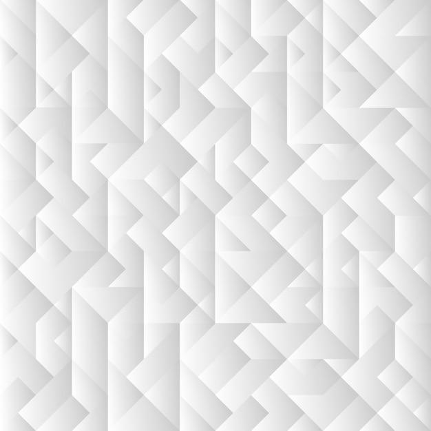 Fundo geométrico cinzento 3d Vetor Premium