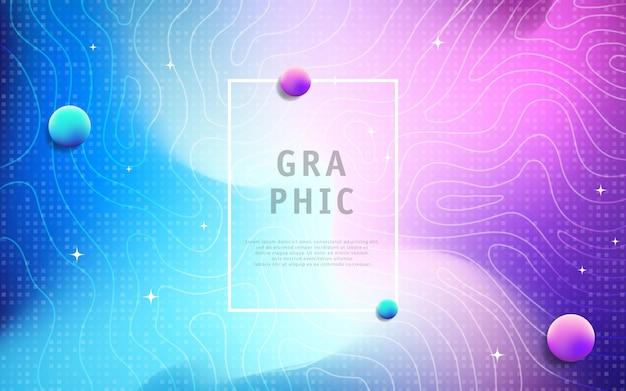 Fundo geométrico colorido com textura de linha Vetor Premium