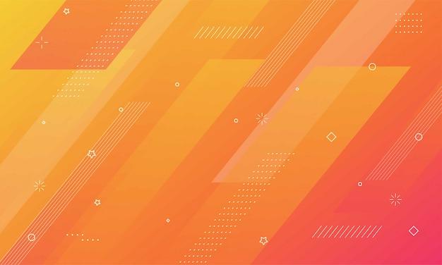 Fundo geométrico colorido. composição de formas dinâmicas Vetor Premium