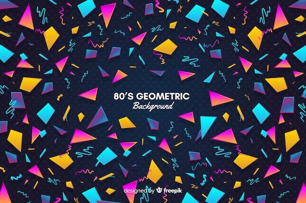 Fundo geométrico colorido vintage Vetor grátis