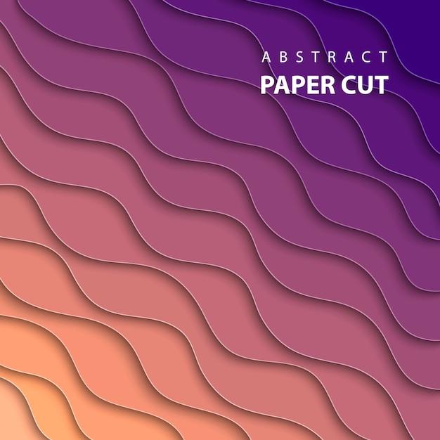 Fundo geométrico com corte de papel multicolor Vetor Premium