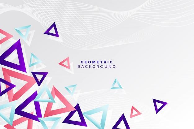 Fundo geométrico com triângulos Vetor grátis