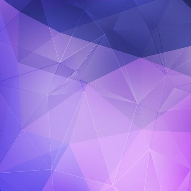 Fundo geométrico de cristal roxo Vetor Premium