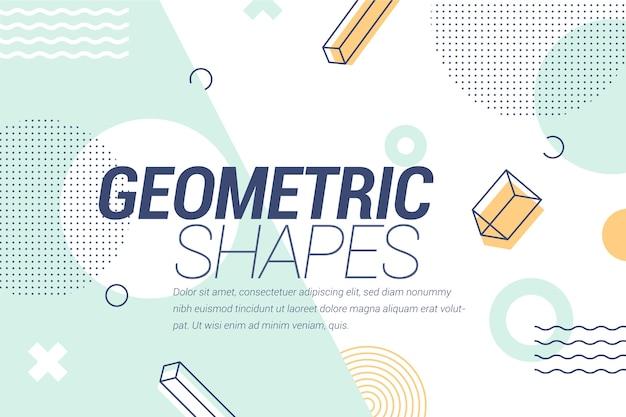 Fundo geométrico de design gráfico Vetor grátis