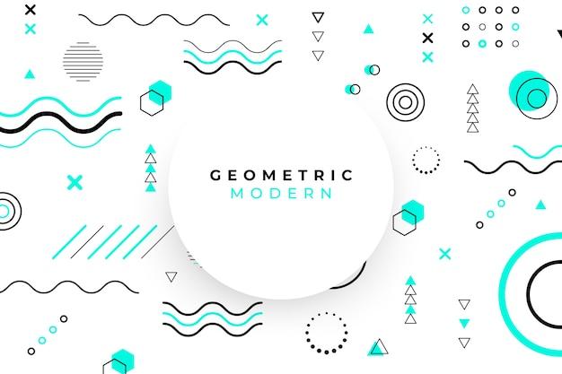 Fundo geométrico de design gráfico Vetor Premium