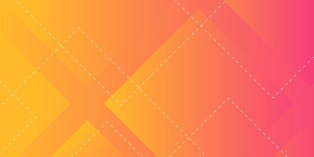 Fundo geométrico de forma abstrata Vetor Premium