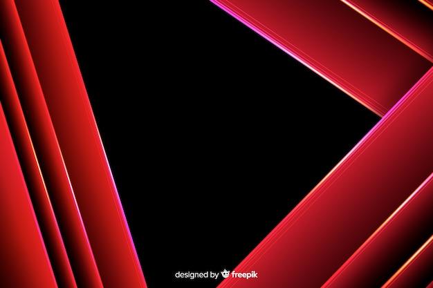 Fundo geométrico de luzes vermelhas Vetor grátis