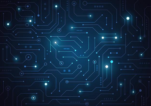 Fundo geométrico de tecnologia Vetor Premium