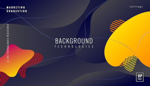 Fundo geométrico dinâmico colorido Vetor Premium