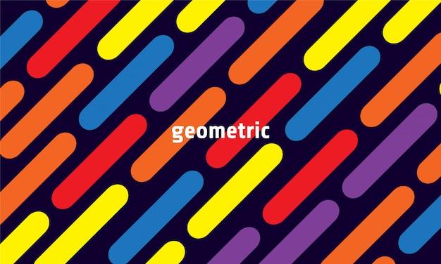 Fundo geométrico dinâmico Vetor Premium