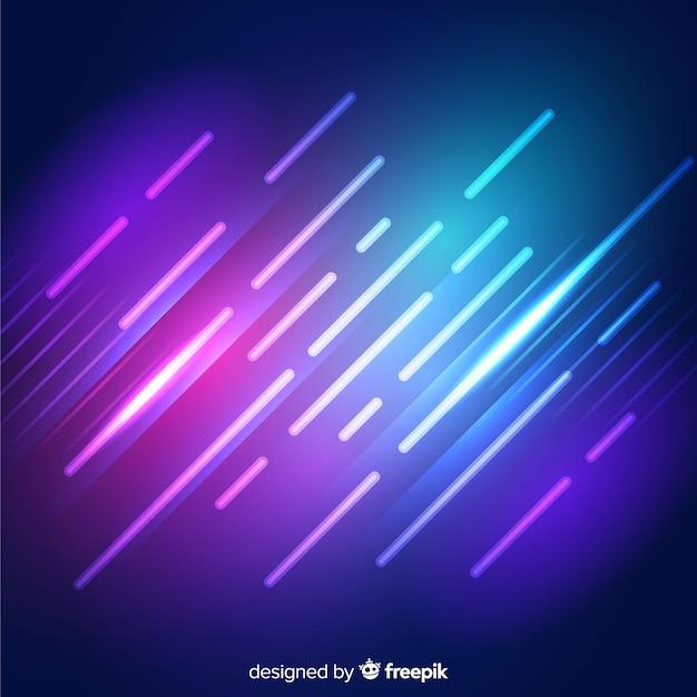 Fundo geométrico formas de néon brilhante Vetor grátis
