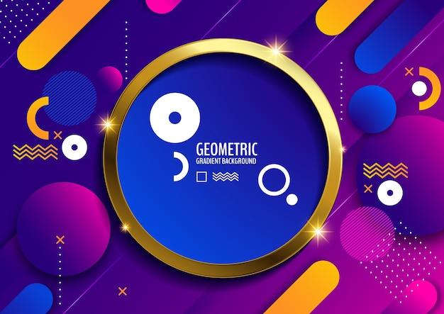 Fundo geométrico, gradiente mínimo Vetor Premium