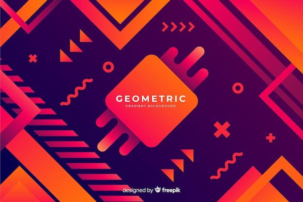 Fundo geométrico gradiente Vetor grátis