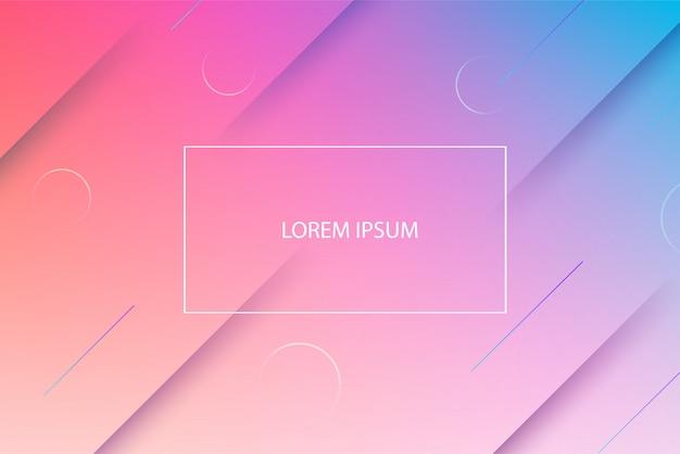Fundo geométrico mínimo. Vetor Premium