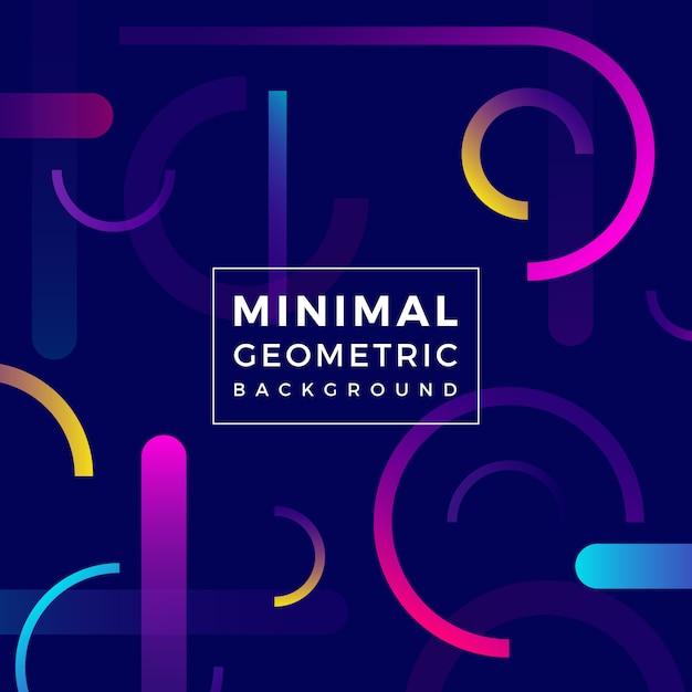 Fundo geométrico mínimo Vetor Premium