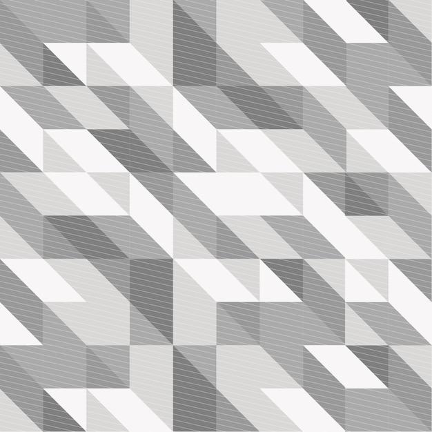 Fundo geométrico preto e branco Vetor Premium