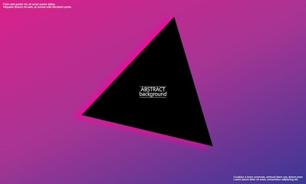 Fundo geométrico. resumo mínimo. cartaz gradiente da moda. Vetor Premium