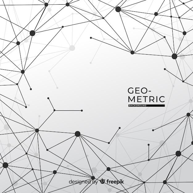 Fundo geométrico wireframe Vetor grátis
