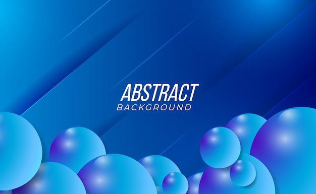 Fundo gradiente abstrato azul 3d colorido e moderno para o interior abstrato da moda da tecnologia do partido Vetor Premium