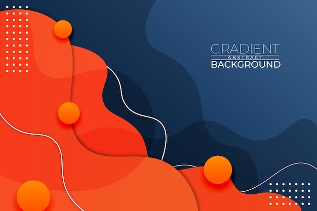 Fundo gradiente abstrato azul estilo laranja Vetor Premium