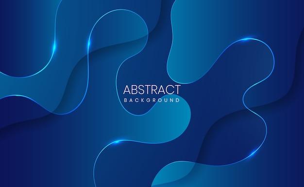 Fundo gradiente abstrato azul moderno Vetor Premium