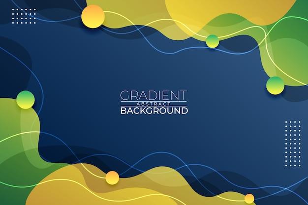 Fundo gradiente abstrato azul verde e estilo amarelo Vetor Premium