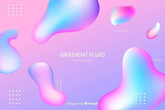 Fundo gradiente abstrato com formas fluidas Vetor grátis